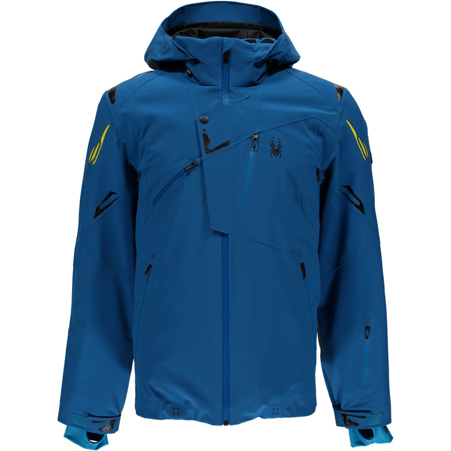 spyder herren 153024 479 skijacke monterosa jacket concept blau recco ebay. Black Bedroom Furniture Sets. Home Design Ideas