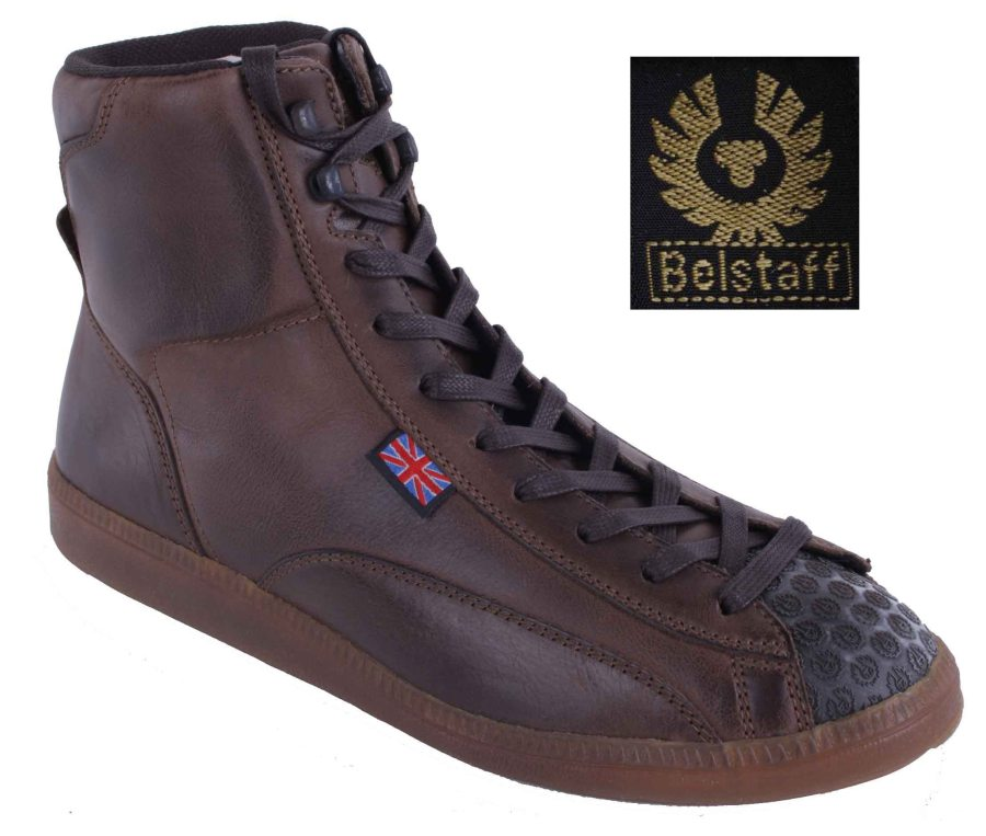 belstaff herren schuhe boots stiefel echtleder braun used gr 41 17 ebay. Black Bedroom Furniture Sets. Home Design Ideas