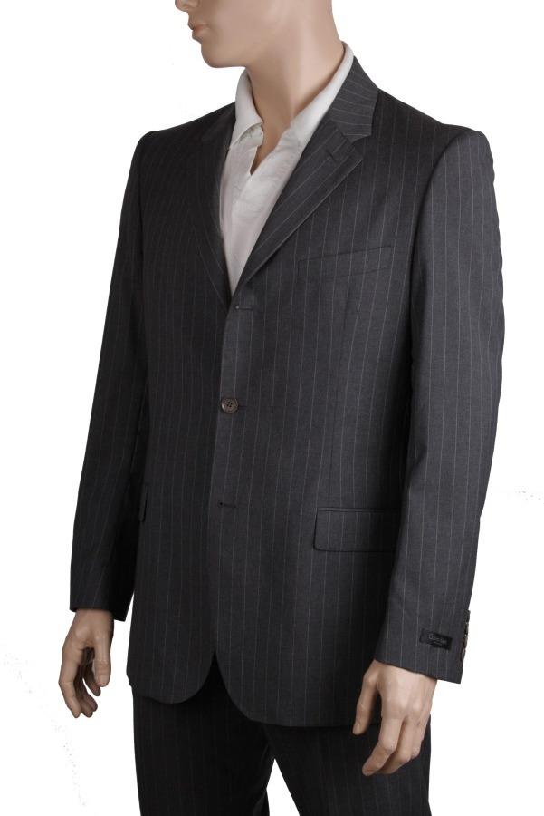 calvin klein herren designer anzug grau schurwolle gr 52. Black Bedroom Furniture Sets. Home Design Ideas