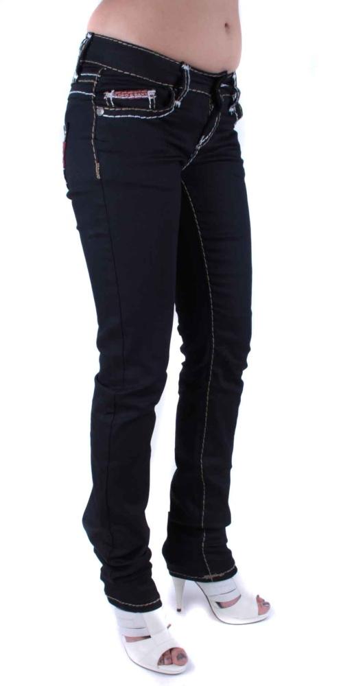 cipo baxx damen jeans denim schwarz cbw 299 w26 w32 ebay. Black Bedroom Furniture Sets. Home Design Ideas