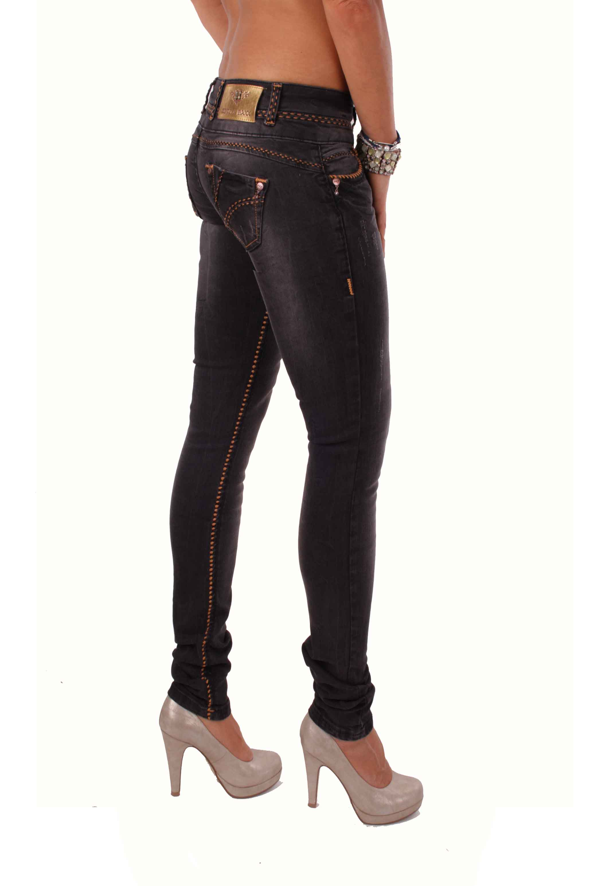 cipo baxx damen jeans hose dicke n hte cbw 0483 schwarz. Black Bedroom Furniture Sets. Home Design Ideas