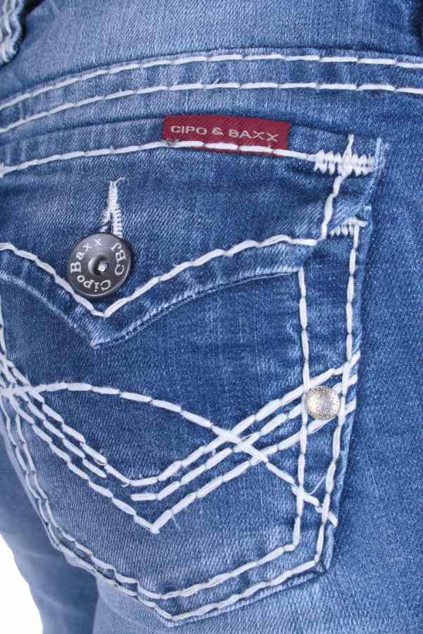 cipo baxx damen designer jeans hose cbw 232 w25 w31 ebay. Black Bedroom Furniture Sets. Home Design Ideas