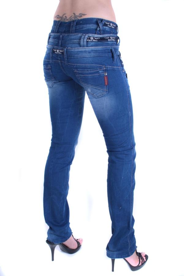 cipo baxx damen jeans hose 3 bund jeans cbw 282. Black Bedroom Furniture Sets. Home Design Ideas