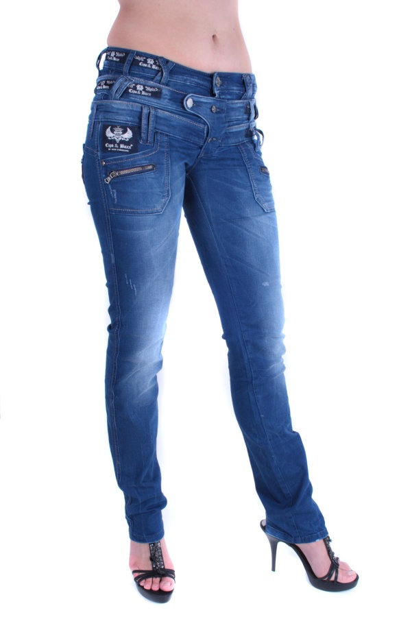 cipo baxx damen jeans hose 3 bund jeans cbw 282 ebay. Black Bedroom Furniture Sets. Home Design Ideas