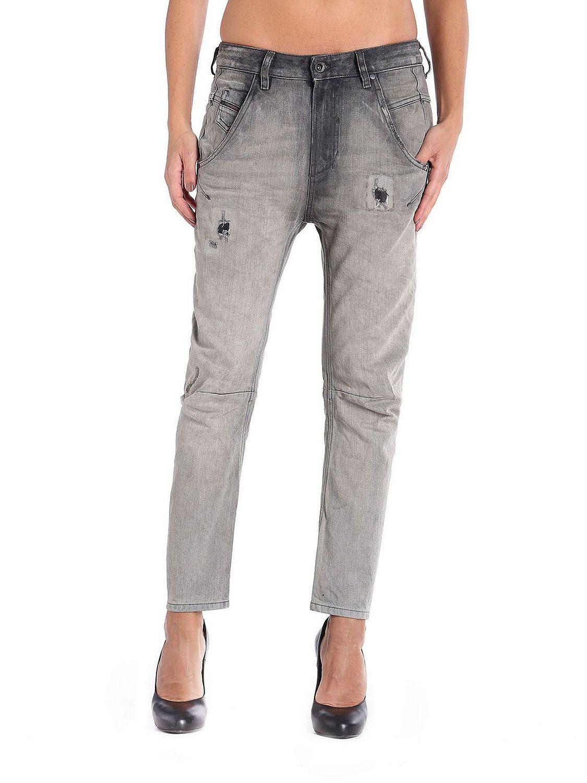 diesel fayza 0837e damen jeans hose boyfriend grau ebay. Black Bedroom Furniture Sets. Home Design Ideas