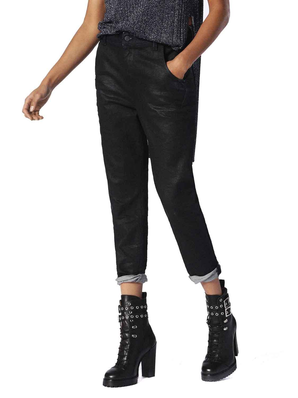 NWT DIESEL Women/'s Black Fayza-R Stretch Boyfriend Jogg Jeans 28