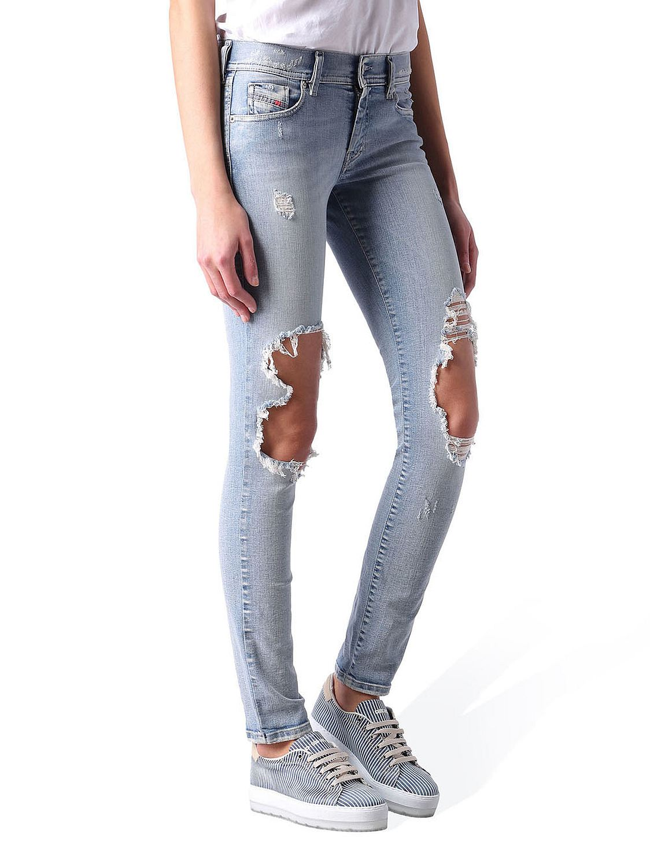 b361ec6f0774f1 Diesel Francy 0673G Stretch Damen Jeans Hose Relaxed Skinny | eBay