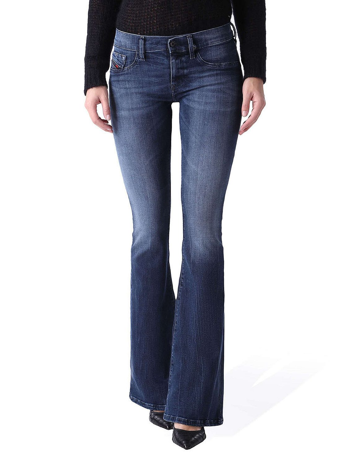diesel livier flare 0670f damen jeans hose super slim. Black Bedroom Furniture Sets. Home Design Ideas
