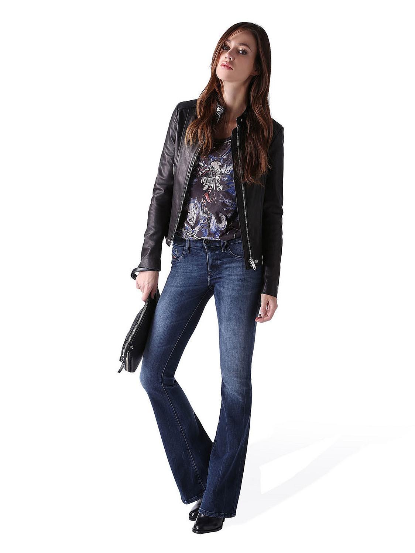 diesel livier flare 0670f damen jeans hose super slim flare schlaghose ebay. Black Bedroom Furniture Sets. Home Design Ideas