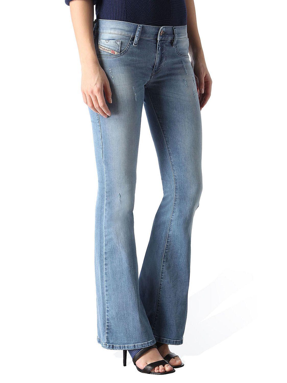 diesel livier flare 0851z damen jeans hose super slim flare schlaghose ebay. Black Bedroom Furniture Sets. Home Design Ideas