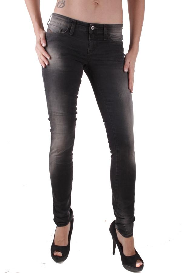 diesel damen jeans hose skinny skinzee low 0607g schwarz. Black Bedroom Furniture Sets. Home Design Ideas