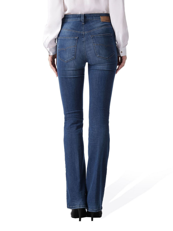 diesel skinzee flare 0826f stretch damen jeans hose schlaghose ebay. Black Bedroom Furniture Sets. Home Design Ideas