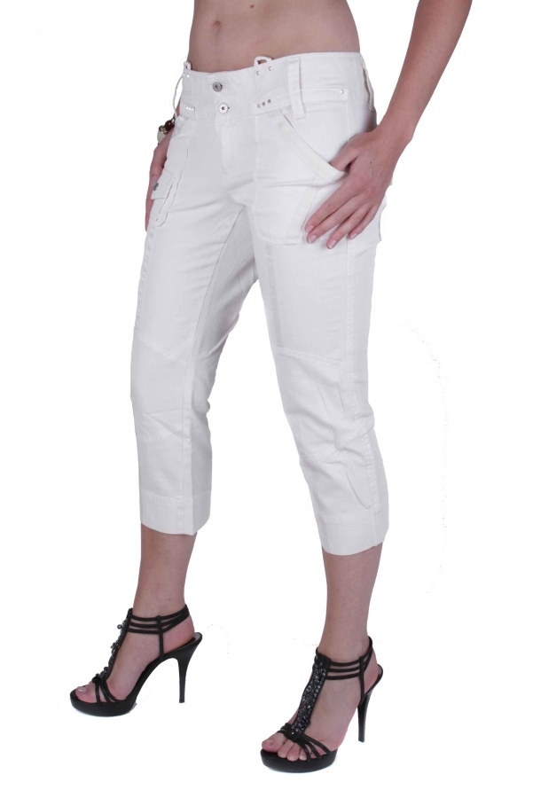 diesel damen jeans hose caprihose moderne creme w29 19 ebay. Black Bedroom Furniture Sets. Home Design Ideas