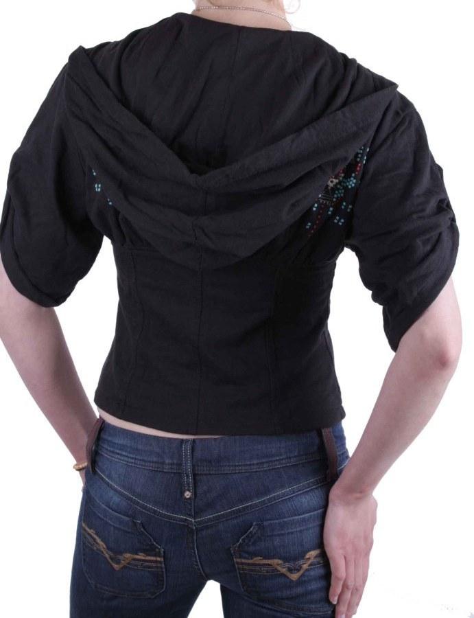 diesel hoodie sweatjacke jacke kurzarm schwarz calientes. Black Bedroom Furniture Sets. Home Design Ideas