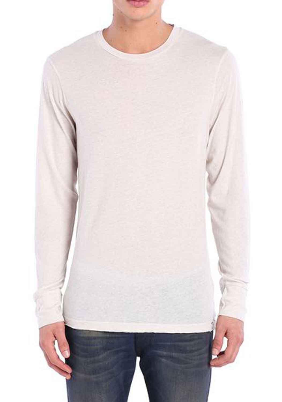 diesel T-NAND men s shirt long sleeve long sleeve cream 1 ... e986168f629