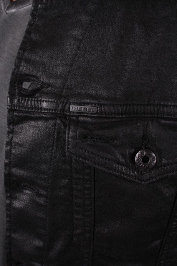 diesel herren jacke jeansjacke elshar ne joggjeans schwarz gr s. Black Bedroom Furniture Sets. Home Design Ideas