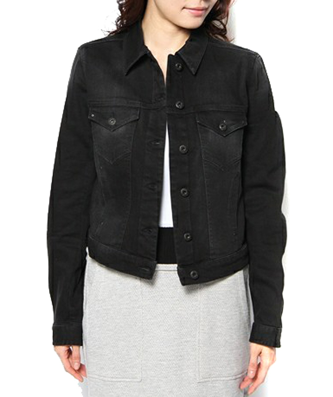 diesel gioen w giacca damen jeansjacke stretch schwarz ebay. Black Bedroom Furniture Sets. Home Design Ideas