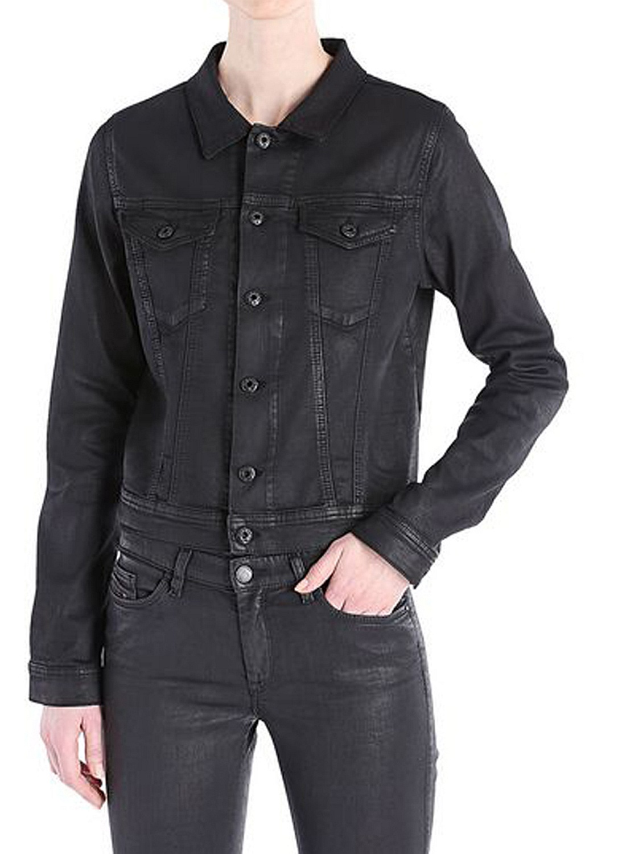 af1c1eac3de4 Diesel r-pesc GIACCA ladies jeans jacket stretch black   eBay