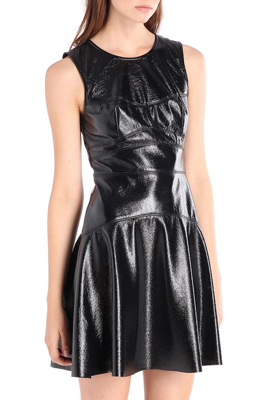Diesel D-Basma Abito Damen Kleid Lackkleid Schwarz | eBay