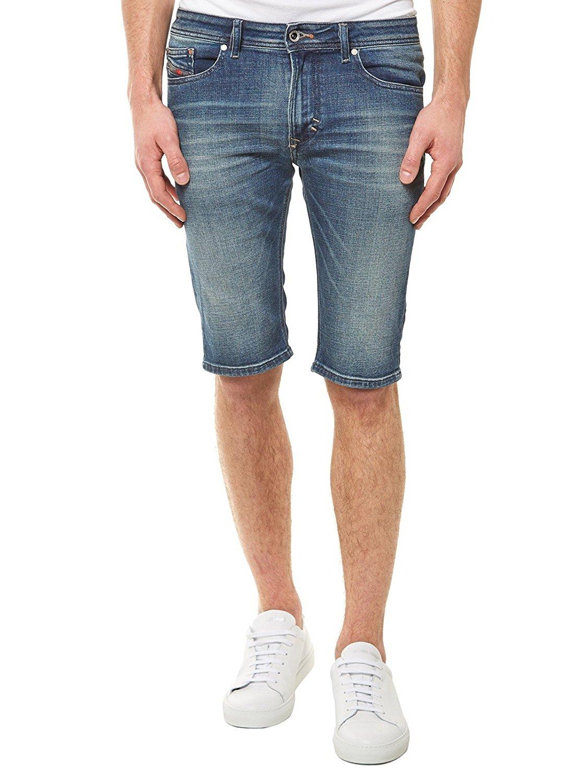 bf9df0766476d Details zu Diesel Thashort 0850K Herren Jeans Bermuda Shorts Blau