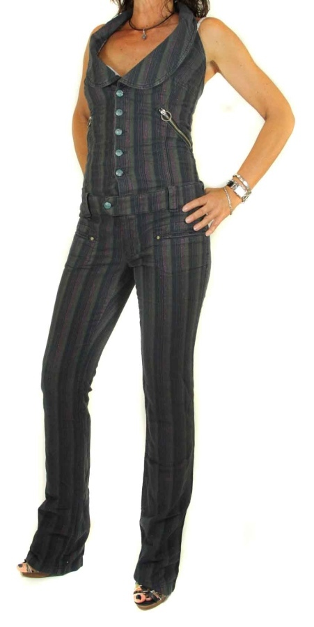 diesel damen jeans overall prosdov schwarz gr xs ebay. Black Bedroom Furniture Sets. Home Design Ideas