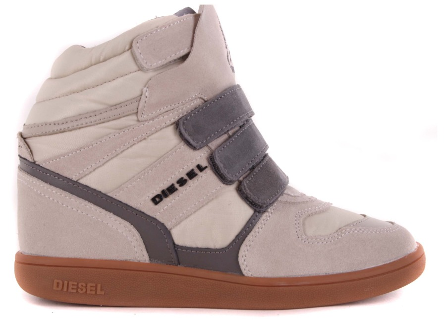 diesel damen sneaker schn rschuhe schuhe keilabsatz creme 1 ebay. Black Bedroom Furniture Sets. Home Design Ideas