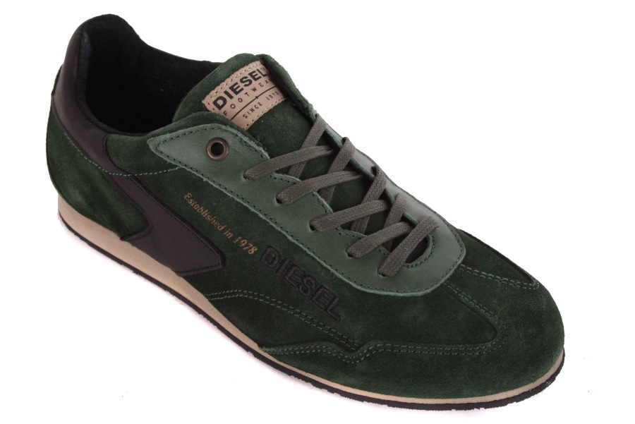 Diesel Mens Sneakers Lace Up Shoes Green 10