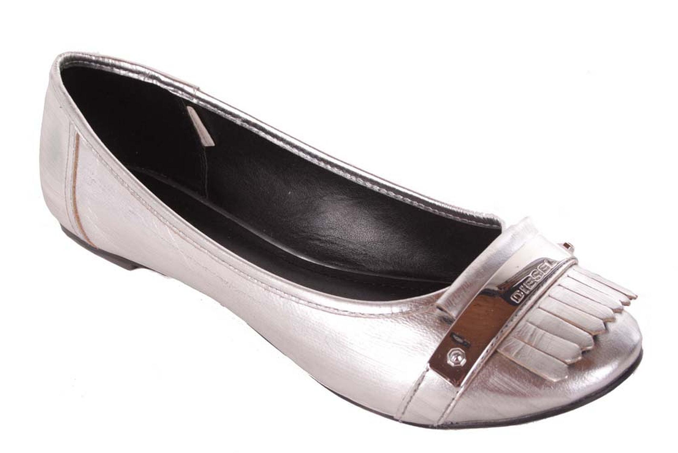 diesel damen ballerina slipper haneta silber 168 ebay. Black Bedroom Furniture Sets. Home Design Ideas