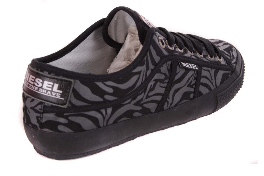 diesel damen sneaker schn rschuhe schuhe zebra schwarz 33. Black Bedroom Furniture Sets. Home Design Ideas