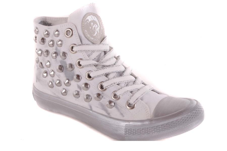 diesel damen sneaker high boots schuhe wei used 42. Black Bedroom Furniture Sets. Home Design Ideas