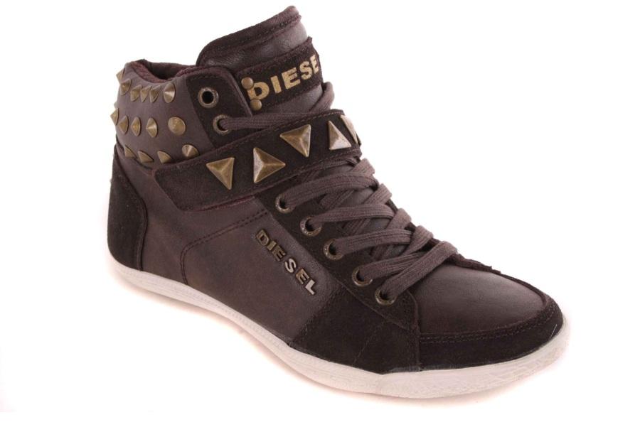 diesel damen sneaker high boots schuhe braun 52 ebay. Black Bedroom Furniture Sets. Home Design Ideas