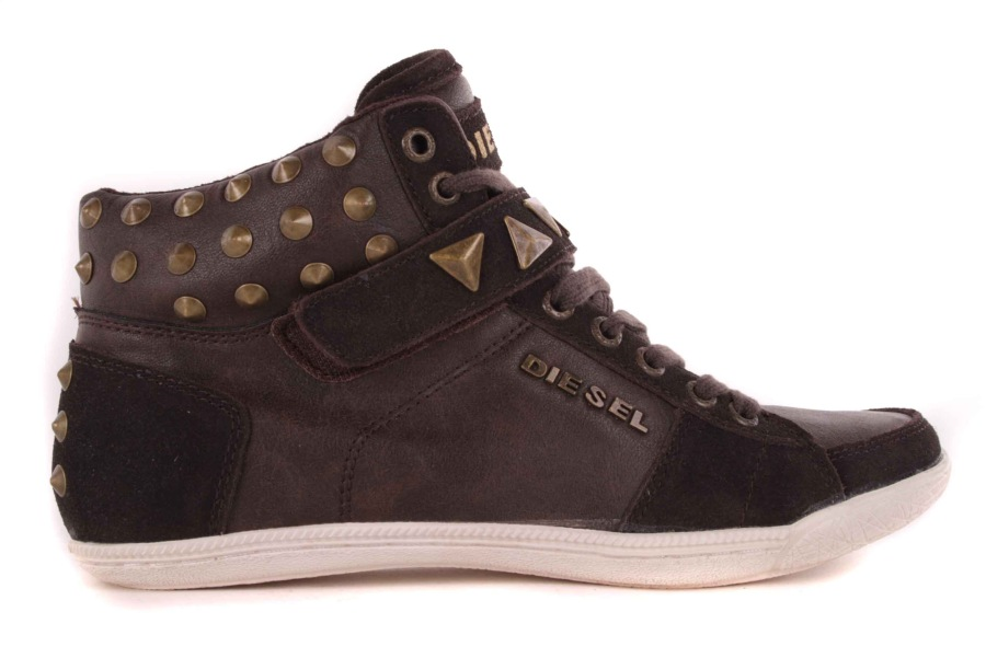 Diesel Women's Sneakers High Boots Shoes Brown #52 | eBay