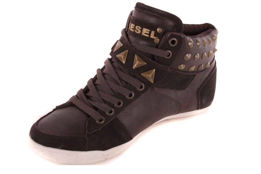 diesel damen sneaker high boots schuhe braun 52 ebay. Black Bedroom Furniture Sets. Home Design Ideas