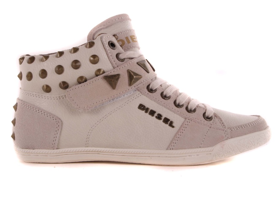 diesel damen sneaker high boots schuhe creme gr 37 72 ebay. Black Bedroom Furniture Sets. Home Design Ideas