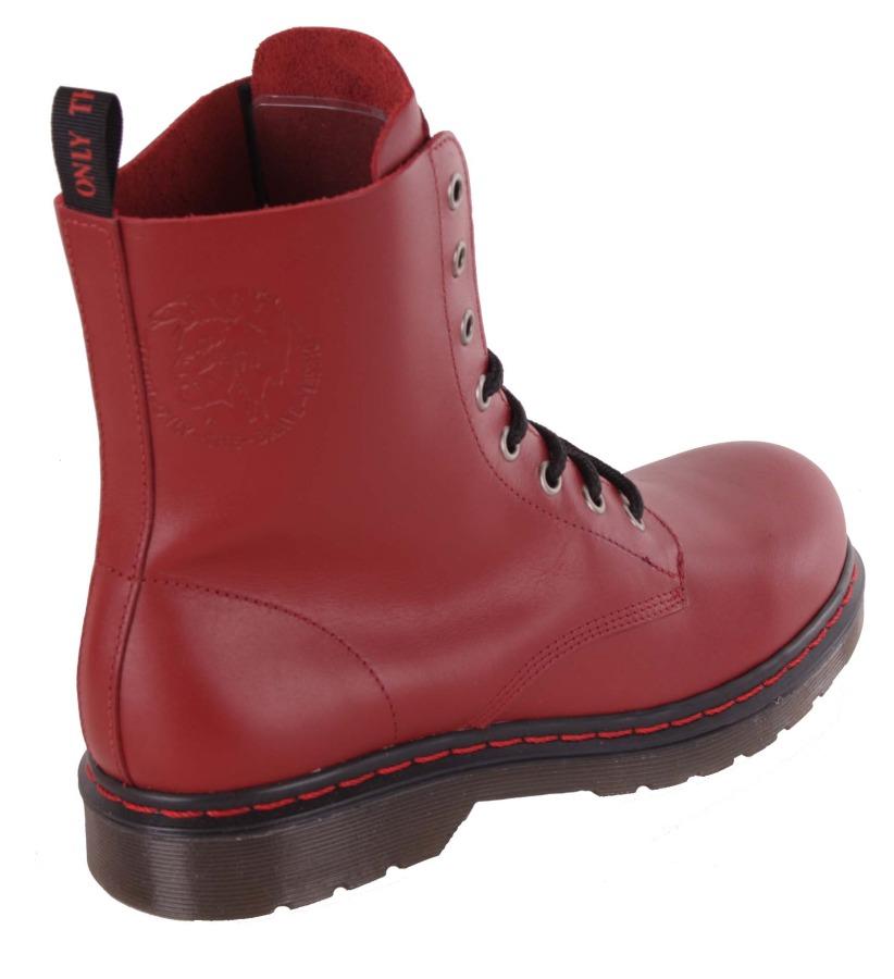 diesel damen boots stiefeletten stiefel rot echtleder 74 ebay. Black Bedroom Furniture Sets. Home Design Ideas