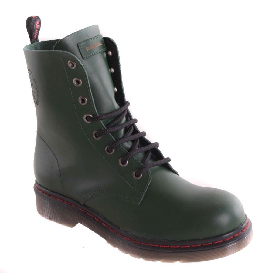 new style f9dec 64e6a Details zu Diesel Damen Boots Stiefeletten Stiefel Grün Echtleder Gr. 41 #75