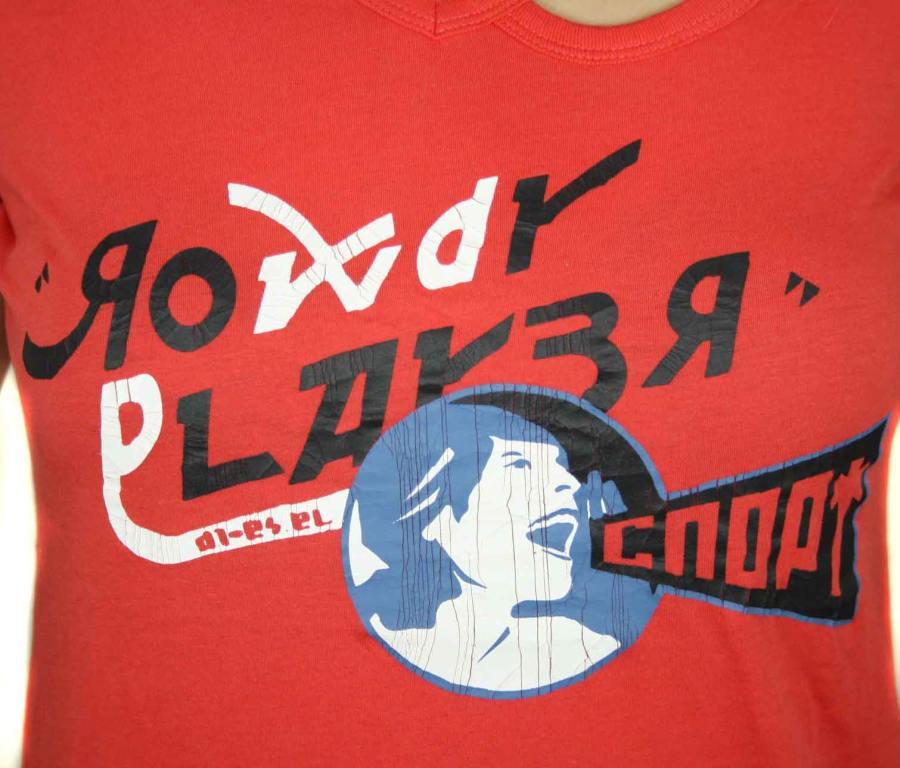 diesel damen t shirt shirt maglietta slimy rot gr s 10. Black Bedroom Furniture Sets. Home Design Ideas