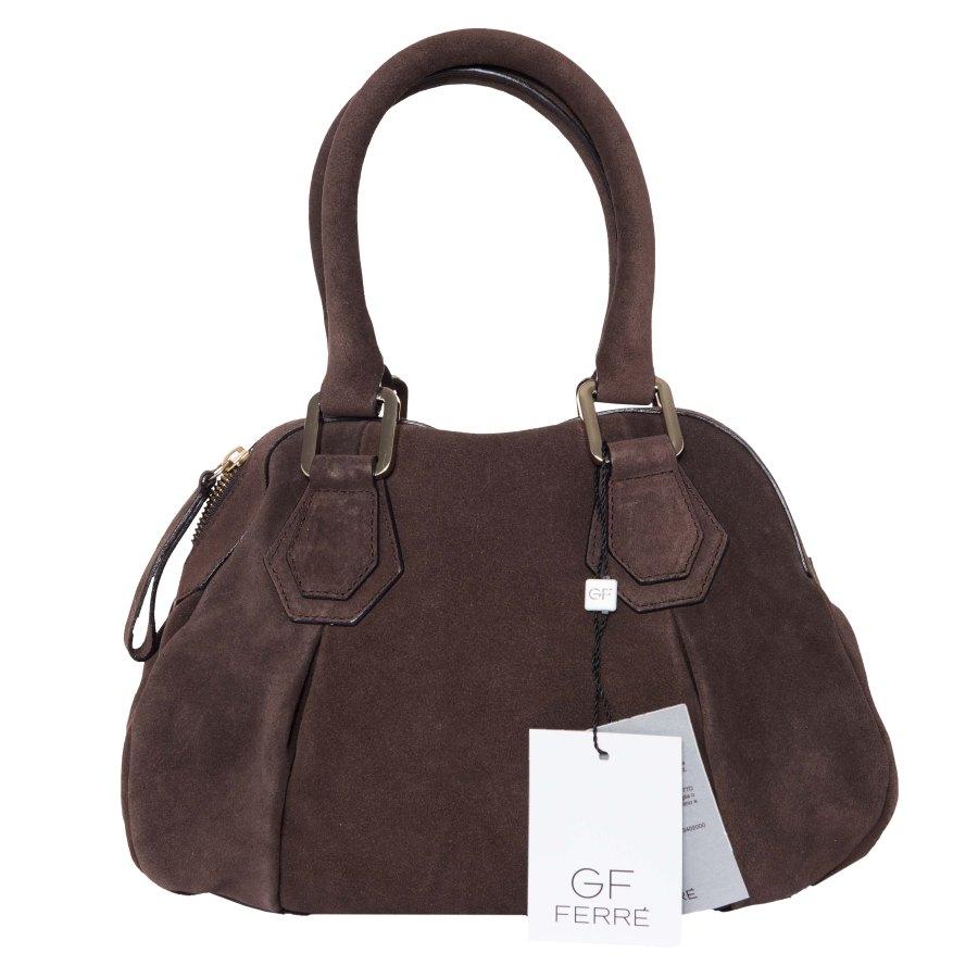 Damen Handtasche Tasche Leder Silber X190 Gianfranco Ferre qlyOi