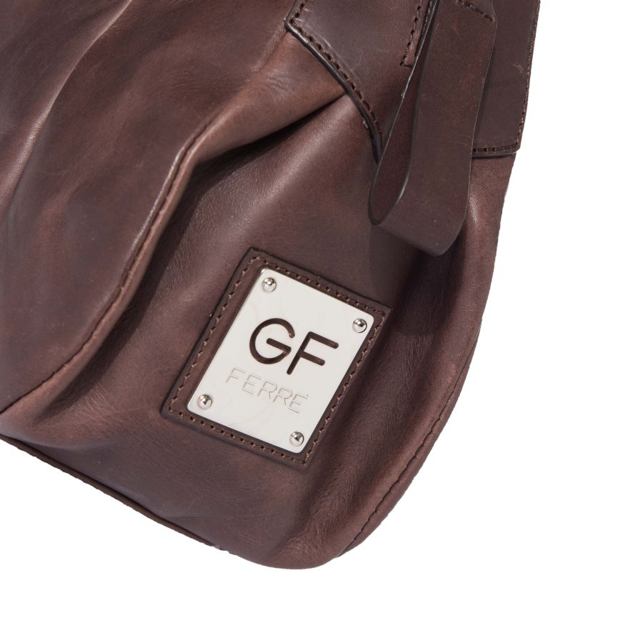 4593968273047 ... Gian Franco Ferre Damen Handtasche Tasche Echtleder Braun X120 2 ...