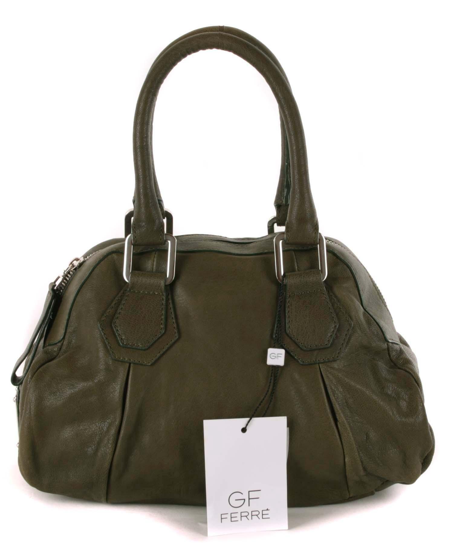 6c174577af03b Gian Franco Ferre Damen Handtasche Tasche Leder Olivgrün X185 1 ...