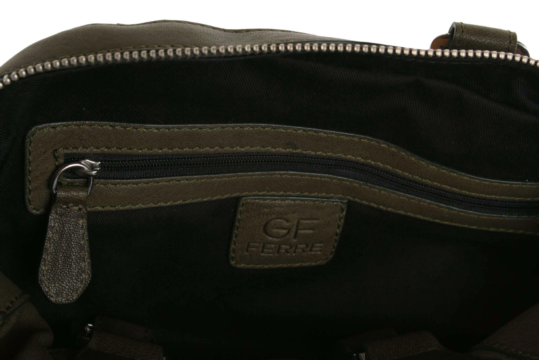 d892cdfaa10cc ... Gian Franco Ferre Damen Handtasche Tasche Leder Olivgrün X185 6 ...