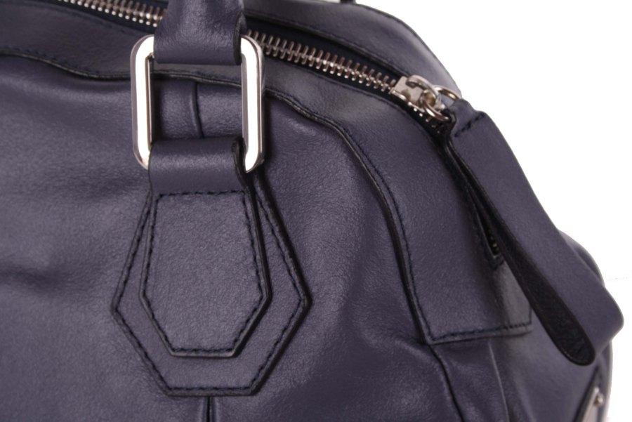 eb9d940a20747 ... Gian Franco Ferre Damen Handtasche Tasche Echtleder Grau-Blau X187 3 ...