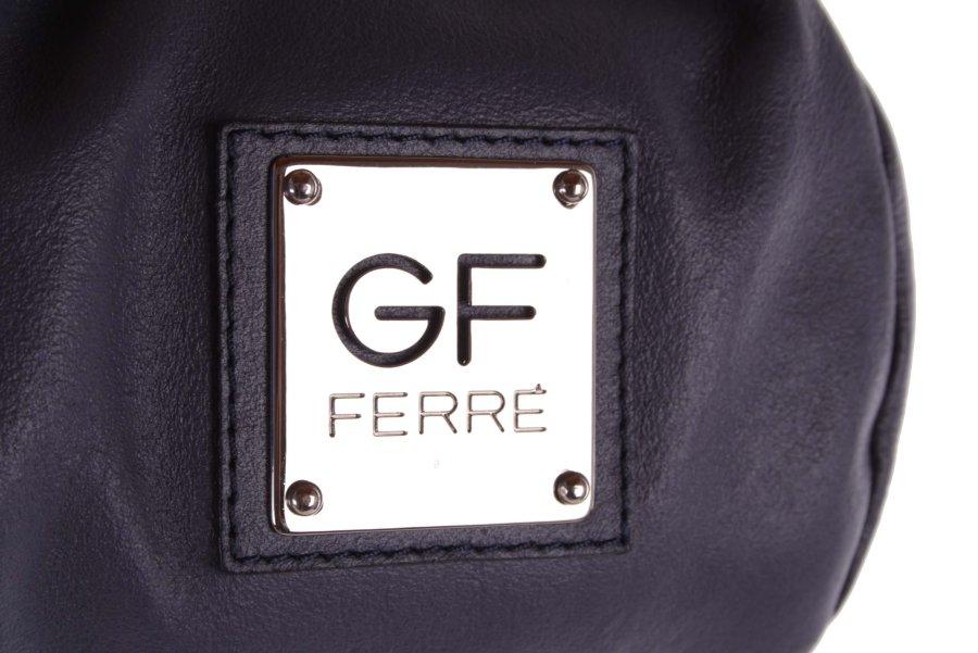bad28d302effb ... Gian Franco Ferre Damen Handtasche Tasche Echtleder Grau-Blau X187 4 ...