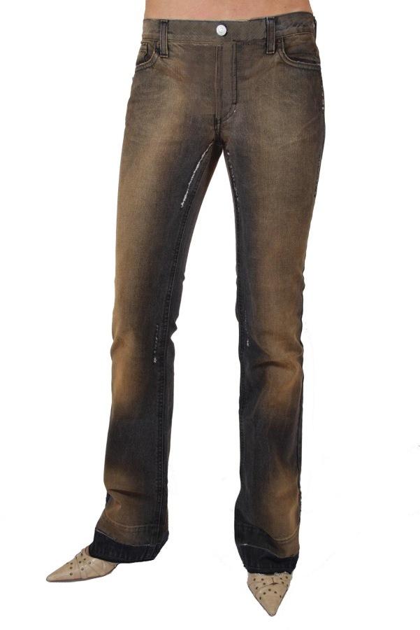 fornarina damen jeans flirt bit denim braun w27 w30 1 ebay. Black Bedroom Furniture Sets. Home Design Ideas