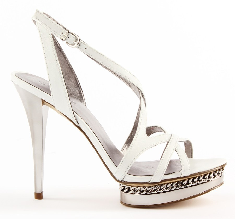 guess sandals high heels black or white size us 4 9 ebay