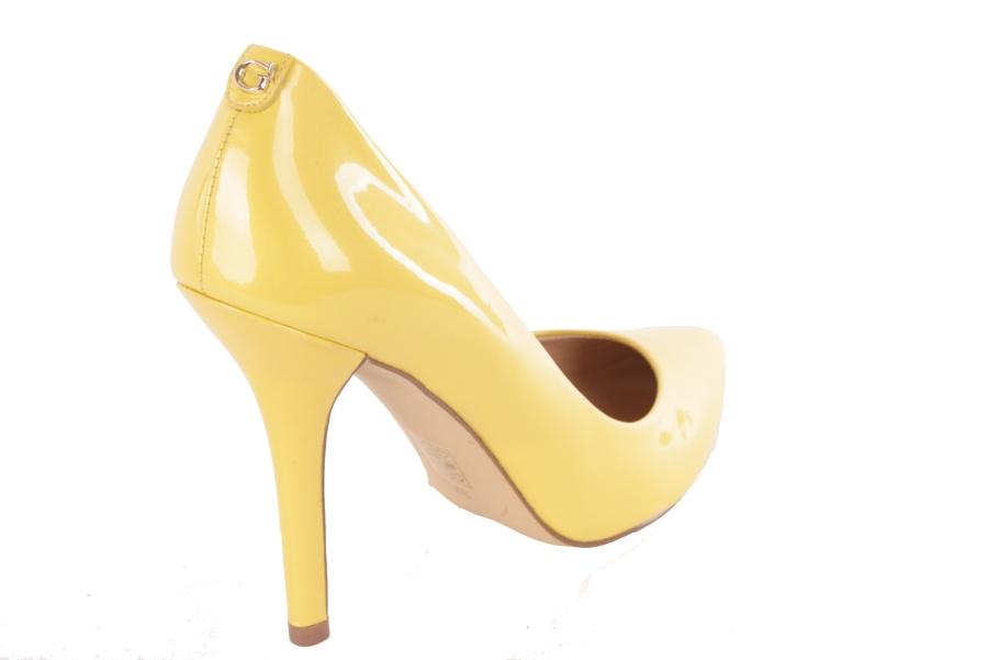 de385afc ... ADIVINAR las bombas de tacón de aguja zapatos de tacón alto amarillo  #618 3 ...