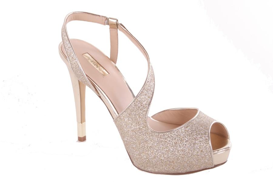 da39ce07f436e2 GUESS Damen Pumps Highheels Stilettos Riemchenpumps Gold  627 1 ...