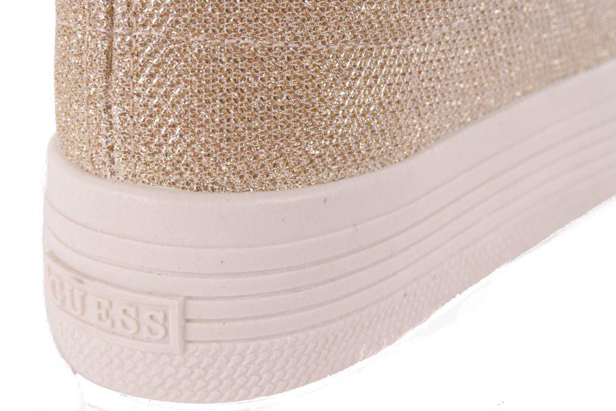864367b1668677 ... Guess Damen Sneaker Schnürschuhe Plateau Gold  701 4 ...