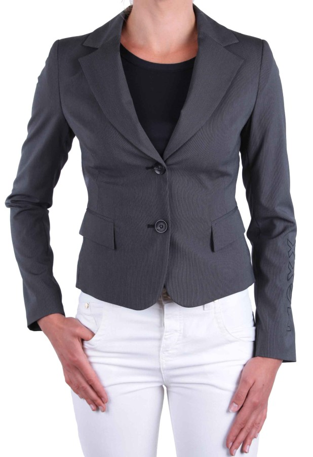 mexx damen jacke blazer anzugjacke business grau nadelstreifen gr 34 ebay. Black Bedroom Furniture Sets. Home Design Ideas