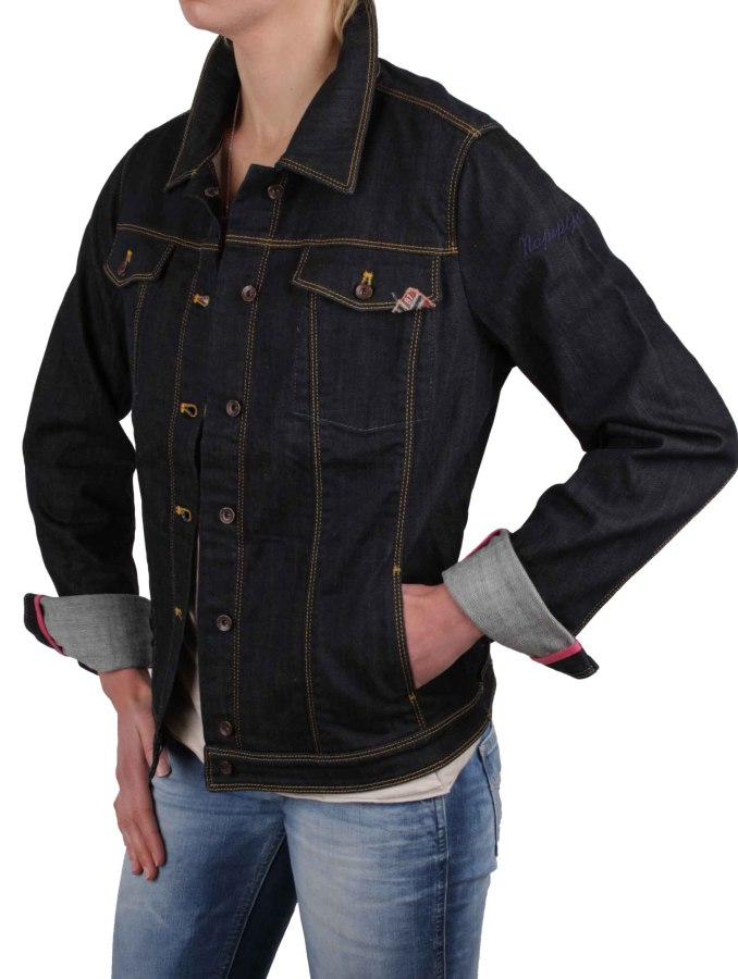 napapijri damen jacke jeansjacke jeans dunkelblau gr xl rif028 ebay